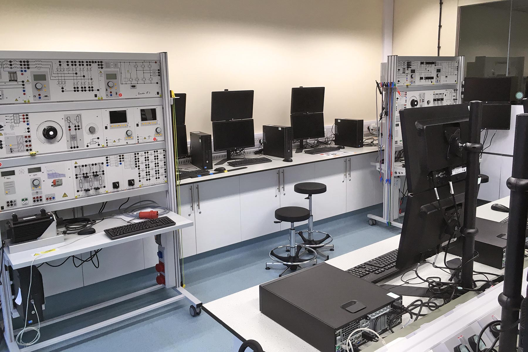 The electrical machines, drives and power electronics lab