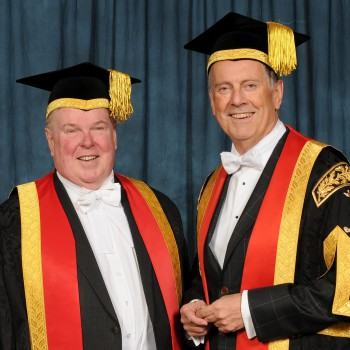Dr Gyles Brandreth and Prof Tim Wheeler