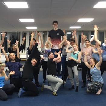 The University of Chester's Drama Society rehearsing The Evolution of Broadway