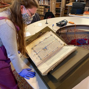 Emily Lanigan (pictured) and Naomi Watts-Kitto from Chester Cathedral will lead University of Chester History and Archaeology student volunteers in the conservation work.