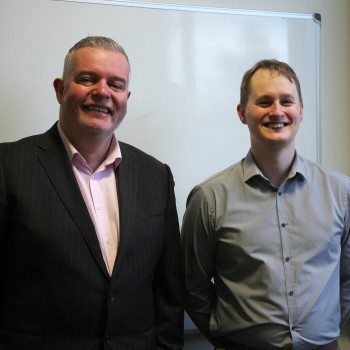 Mal Blackburne from PuzzleDuck and Matt Griffiths from the Informatics Centre