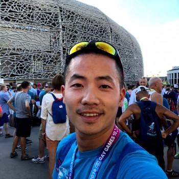Dr Min Ge at the Gay Games, Paris 2018