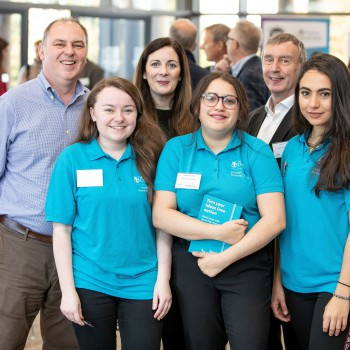 Back row R-L – Andrew Daines (Visit Flanders); Dr Maeve Marmion, Head of Experience Economy and Dr Andy Lyon, Chester Business School. Front row L-R – Laura McGovern; Regina Csonka and Natasha Gomez- Gutierrez