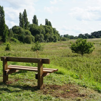 View over the proposed site in the Countess of Chester Country Park for the Chester Wetland Centre from Knolls Bridge.