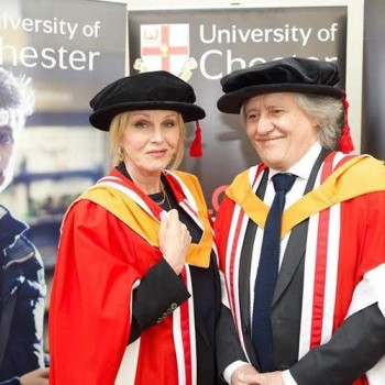 Joanna Lumley and Stephen Barlow