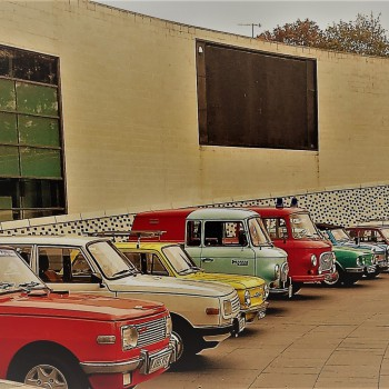 A selection of East German cars on display