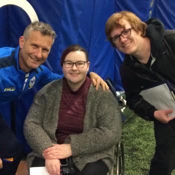 Adam Hills, Steph Taylor and Dan Baker.