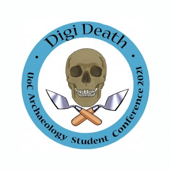 The 'DigiDeath: Public Archaeologies of Digital Mortality' conference logo designed by final-year Archaeology student Emma Barber.