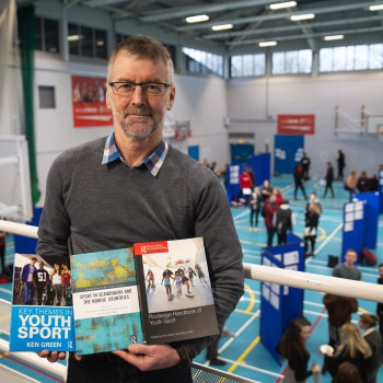 Professor Ken Green (photographed while attending the Annual Sport and Exercise Sciences Research and Careers Conference at the University of Chester).