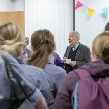 Frank Field MP with nursing students