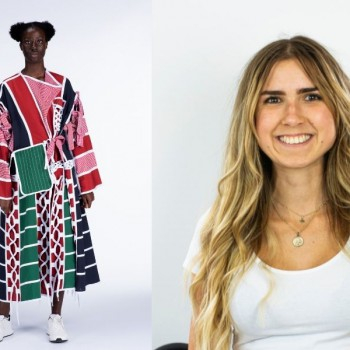 Lili Sipeki and a design from her collection.