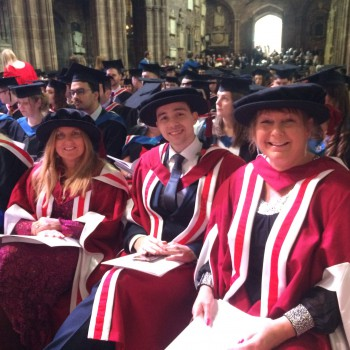 PhD graduands at a Chester graduation ceremony.