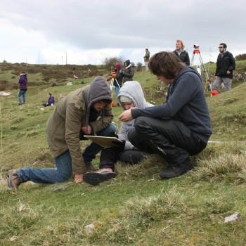 Students at Halkyn, Flintshire.