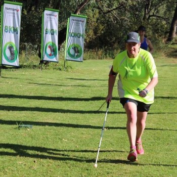 Theresa Robberts on a Parkrun.