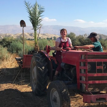 University of Chester PhD student Ruby Cotter, when she volunteered at a farm in Israel.