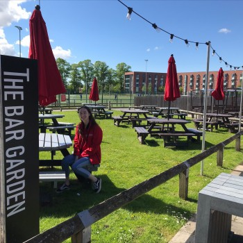 Outdoor bar at Chester campus
