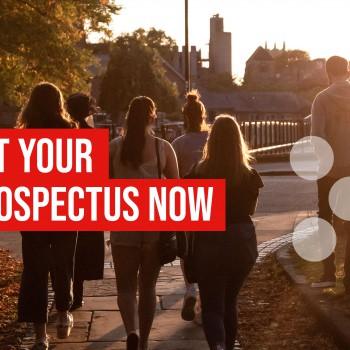 Prospectus cover with students