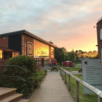 Sunset over Chester Students' Union