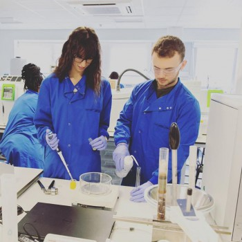 Students on Work Based Learning placement in the NoWFOOD laboratories