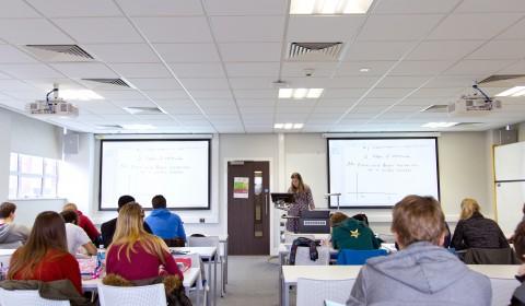 Students at a maths tutorial