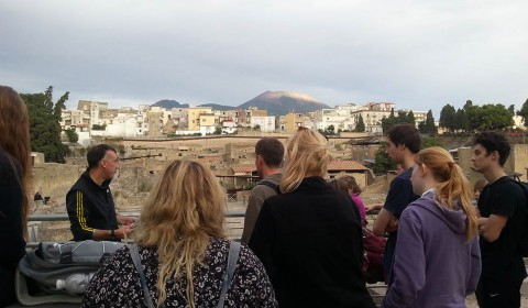 Geography students in Naples