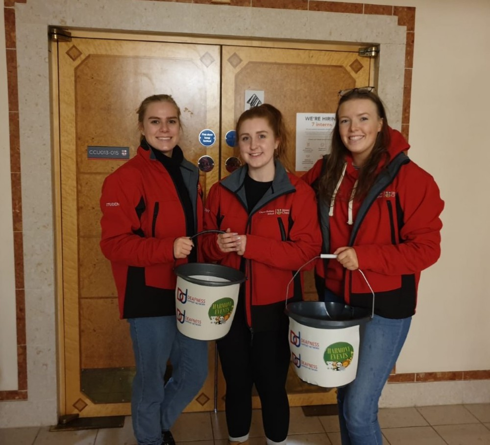 Left to right: Chester Harmony Events -  Alex Edge; Ffion Simpson; and Cerys Williams.