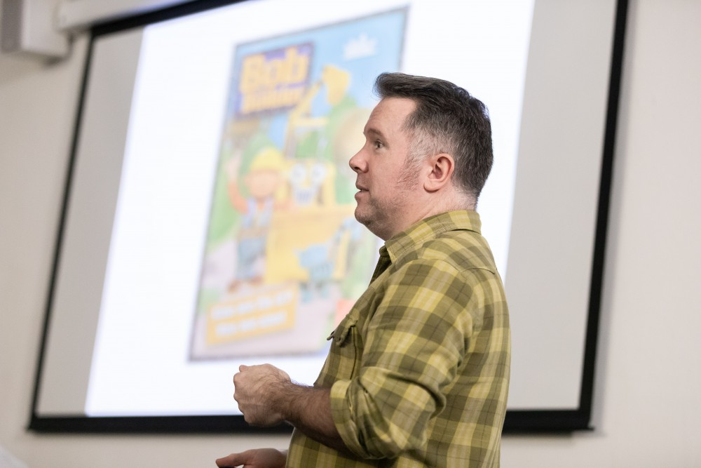Curtis Jobling at the Warrington Campus