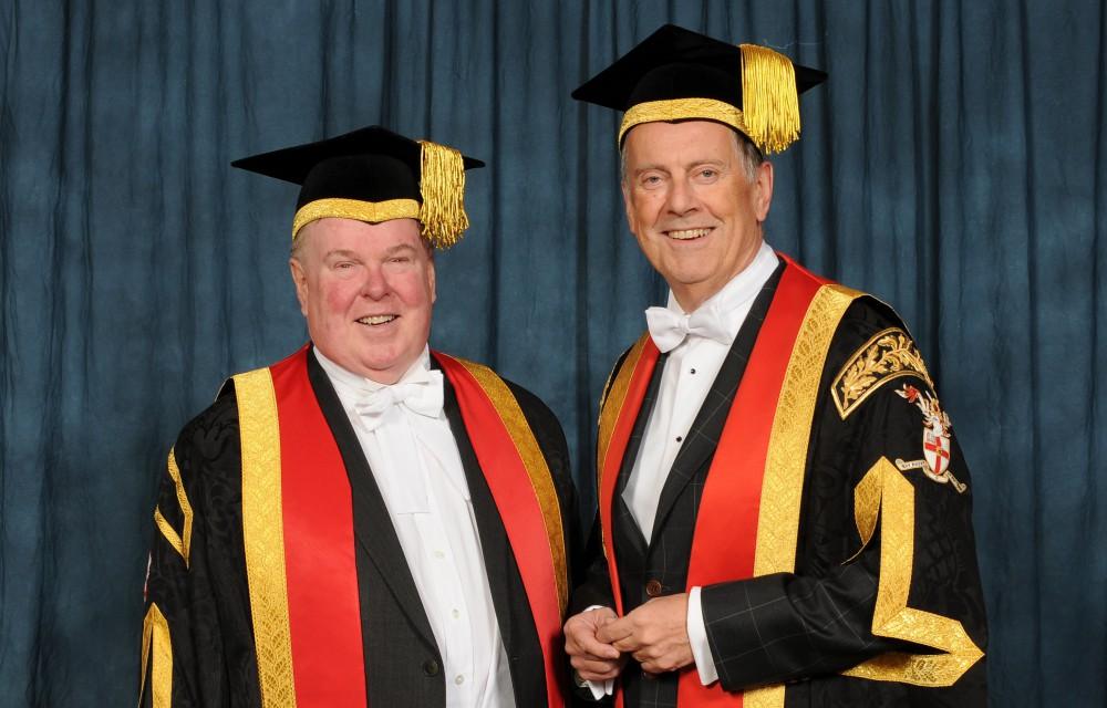 Dr Gyles Brandreth and Prof Tim Wheeler