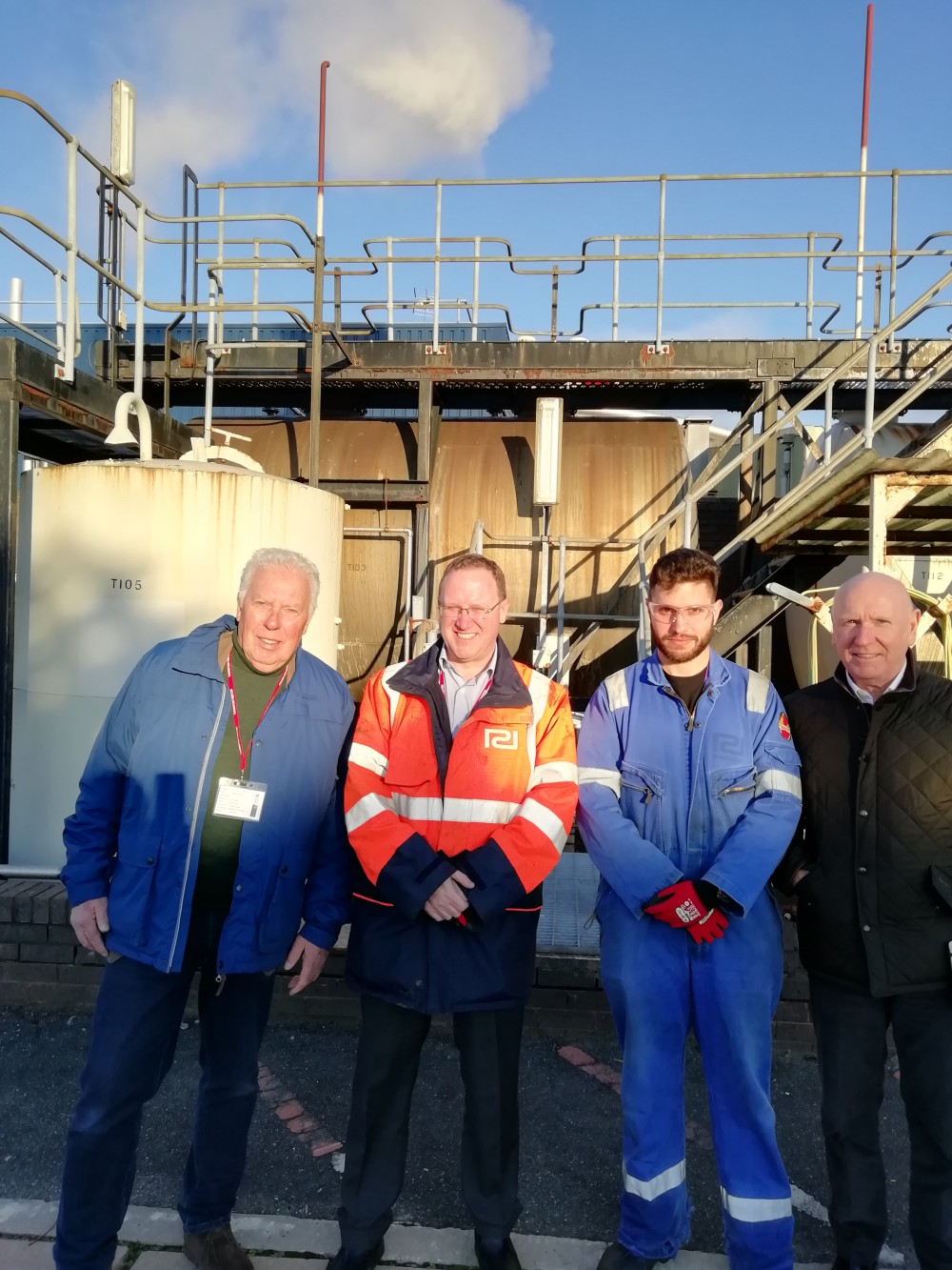 Left to right:  Henk Ketting, Consultant, Ketting Consult; Mark McSorley, Managing Director, Prodecon Ltd; Georgios Balia, MRes student, University of Chester; Alan Kidd, Chairman, Prodecon Ltd.