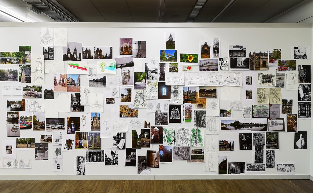 Images of the alternative map of Chester, created by first year students in the Department of Art and Design.