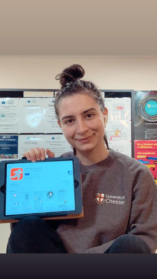 NHS Check In And Chat Volunteer, Franceska Shollo.