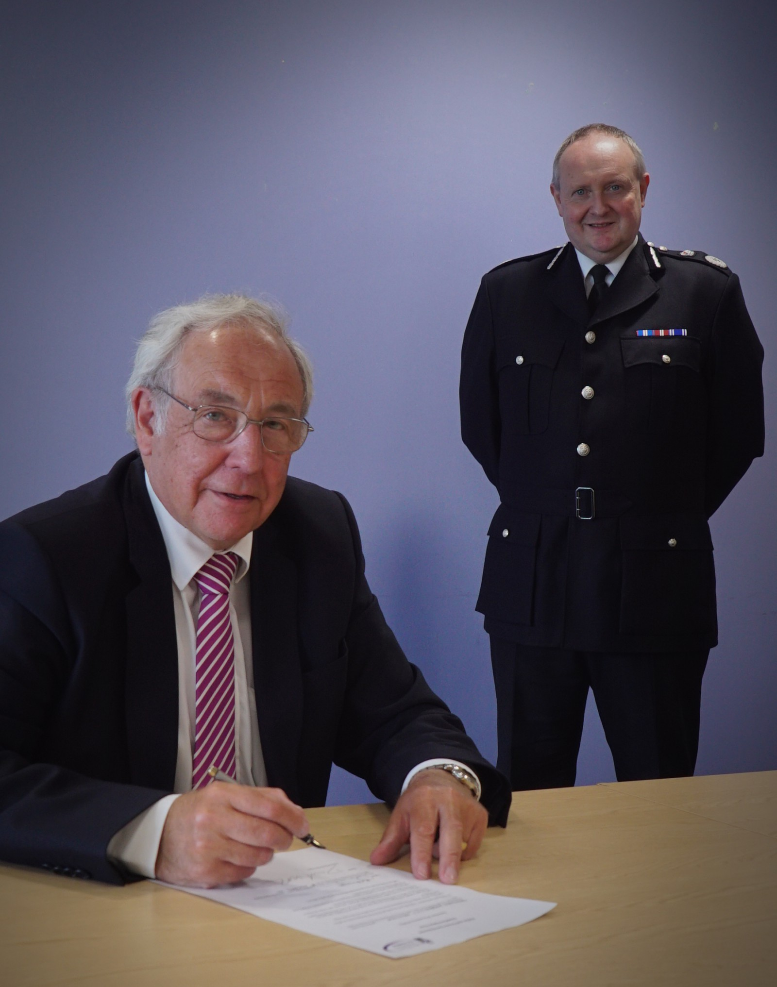Police and Crime Commissioner for Cheshire John Dwyer and Chief Constable Mark Roberts.
