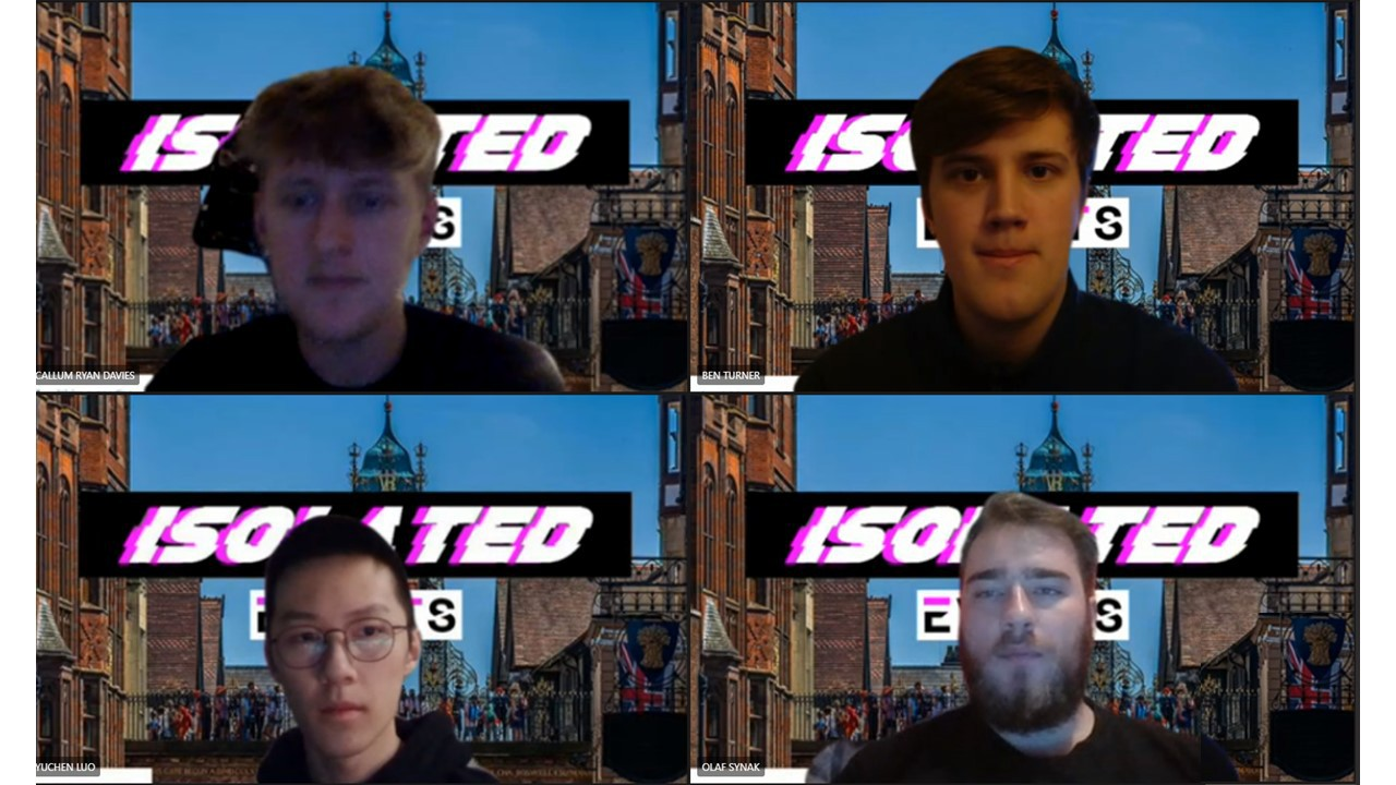 Students Cal Davies, Ben Turner, Olaf Synak and Yuchen Luo, from the Isolated Events team.