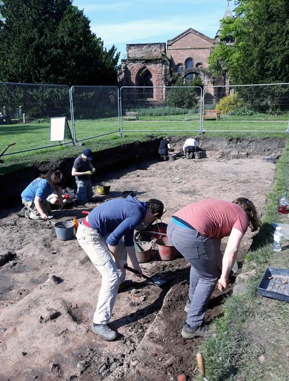 Archaeology students - image taken in 2019