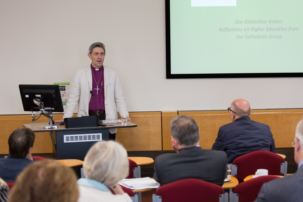 The Rt Rev Tim Dakin, addressing the conference at the University.