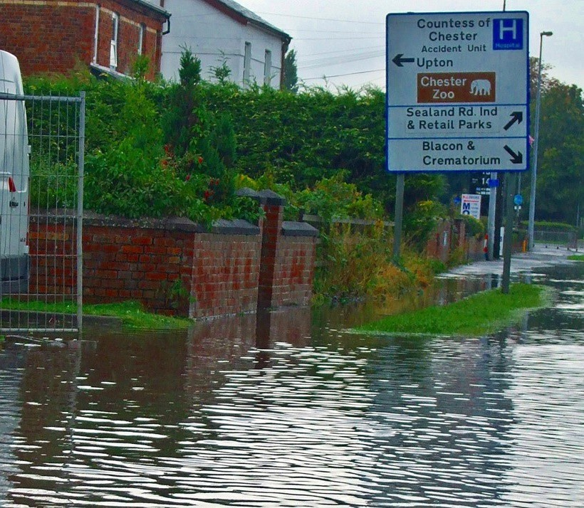 Flooding in Chester