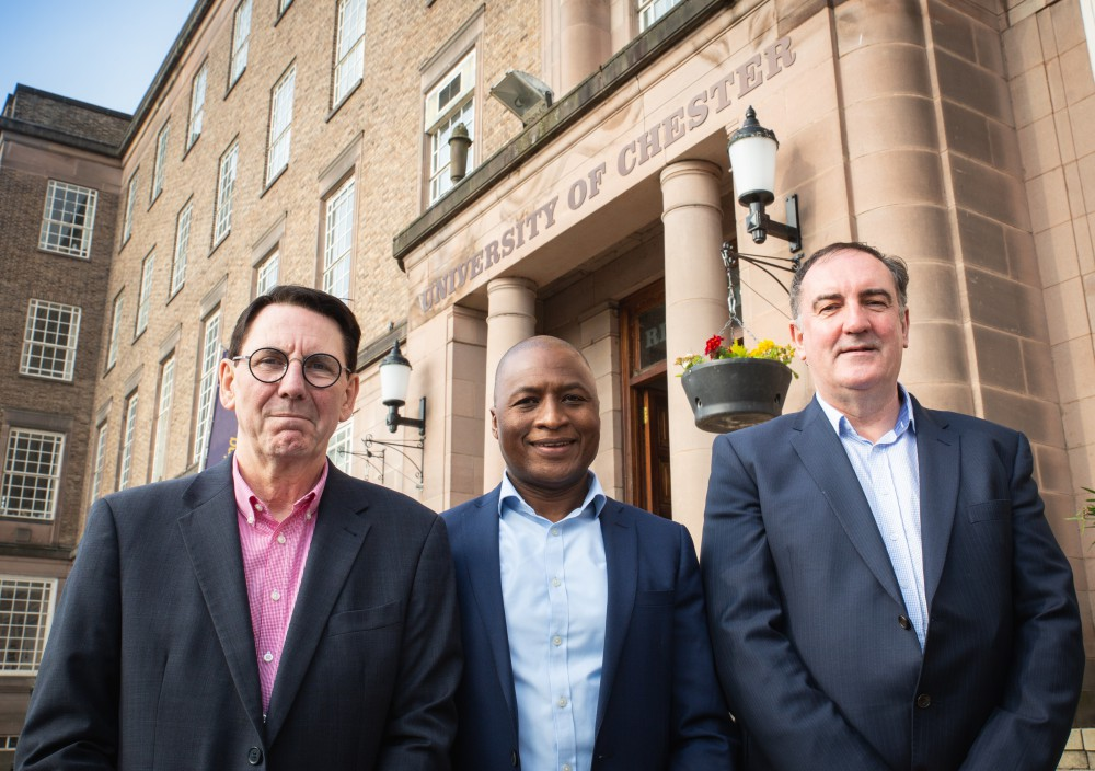 Professor Paul Kingston, Dr Andi Mabhala and Professor Paul Manning.