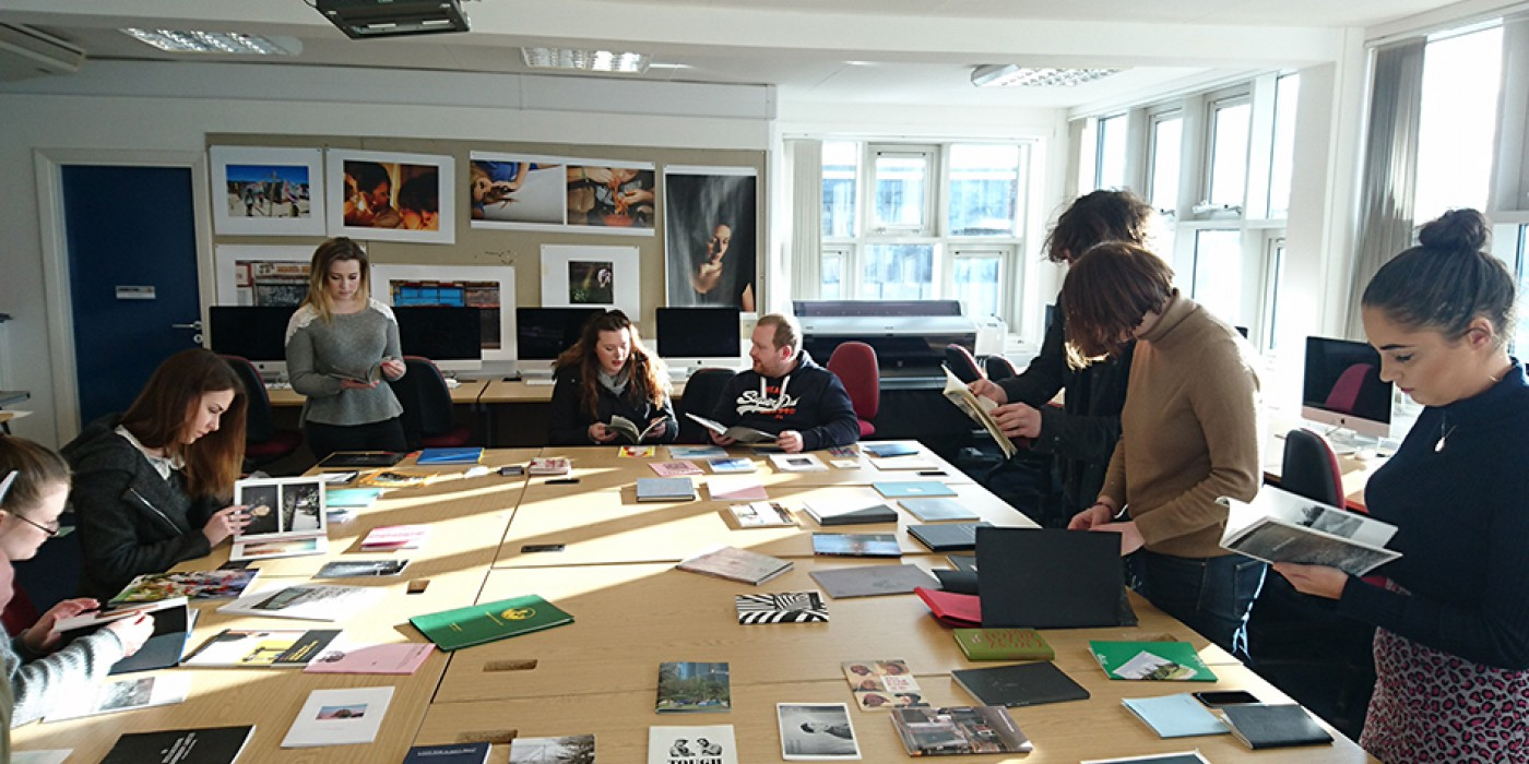 Photography students use the Kingsway Campus darkroom facilities