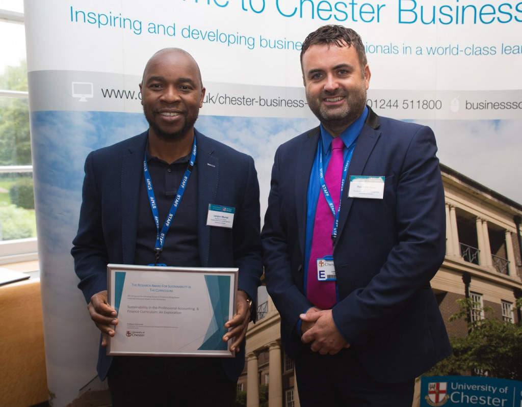 Award Winner Langton Mburayi - The Research Award For Sustainability In The Curriculum