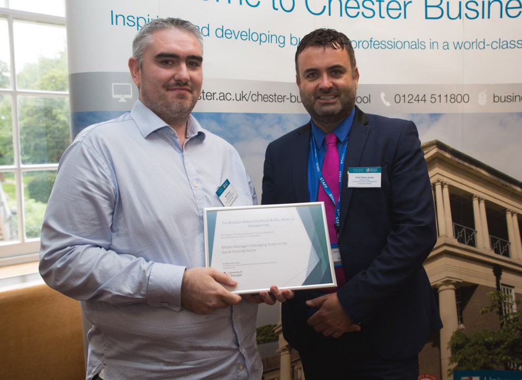 Award Winner Matt Parkyn - The Research Award For Health & Well-Being in Organisations (Joint winner)