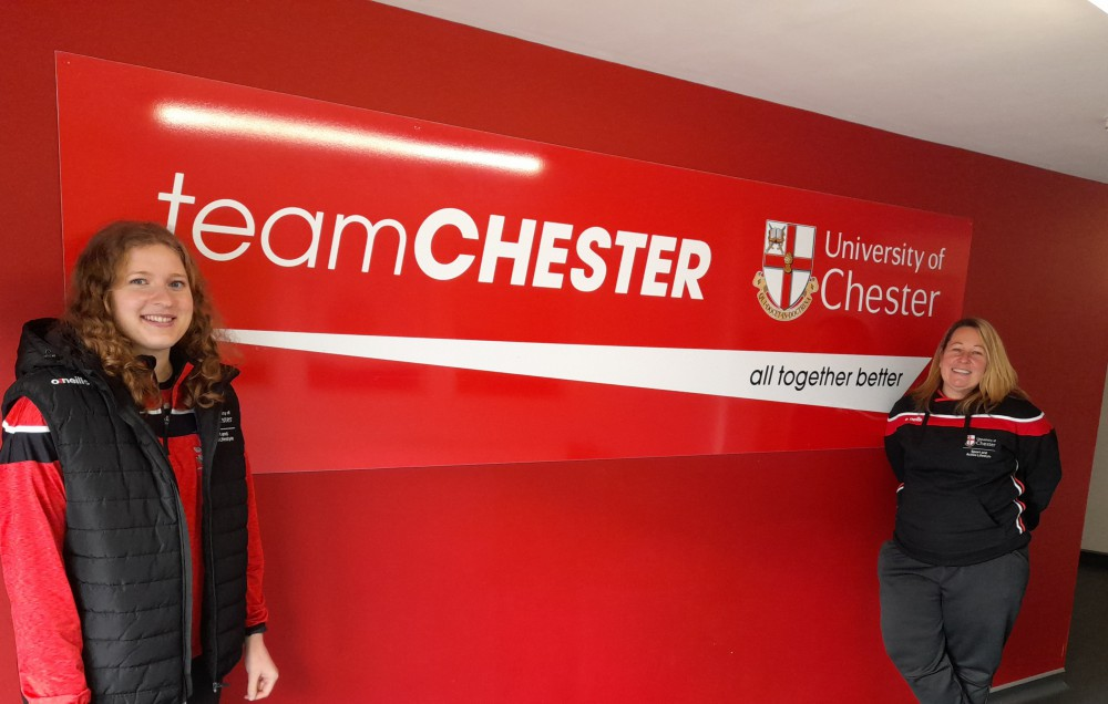 Ali Burkett and Ali Cutler from the University of Chester's Sport and Active Lifestyle Department.