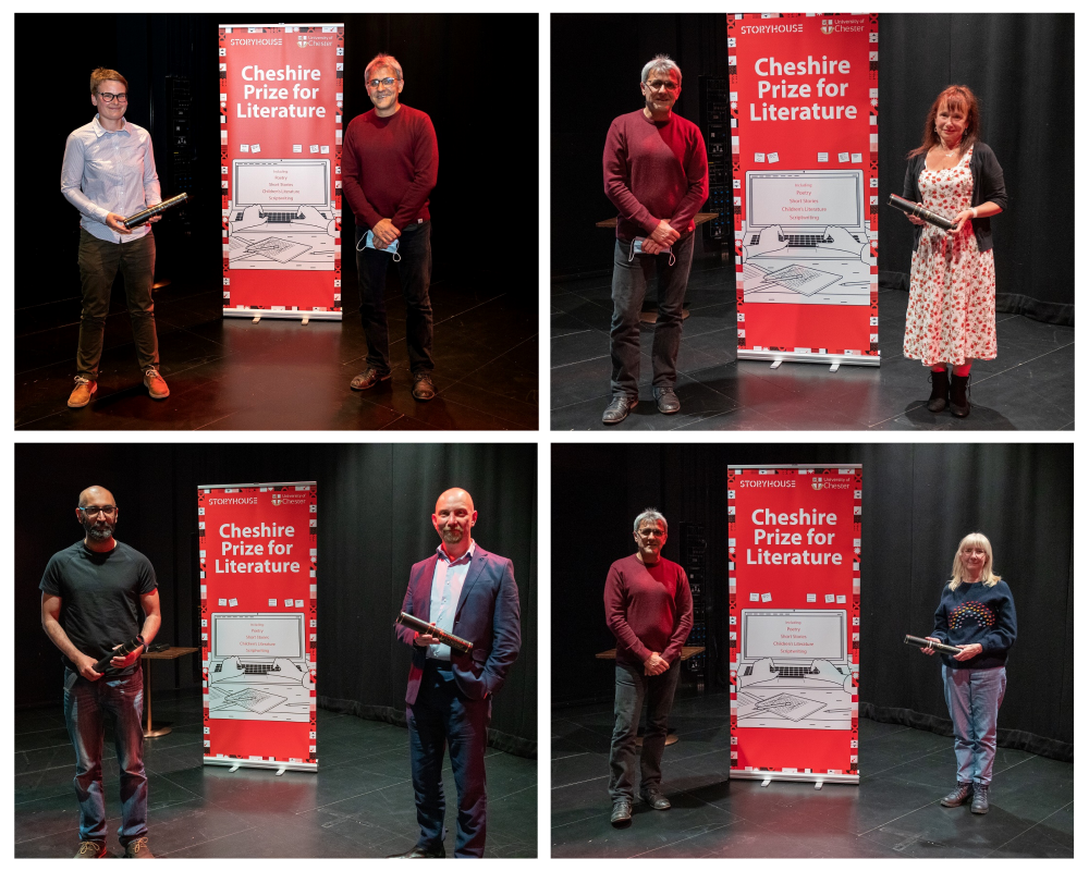 Winners and runners up from the Cheshire Prize for Literature 2020.