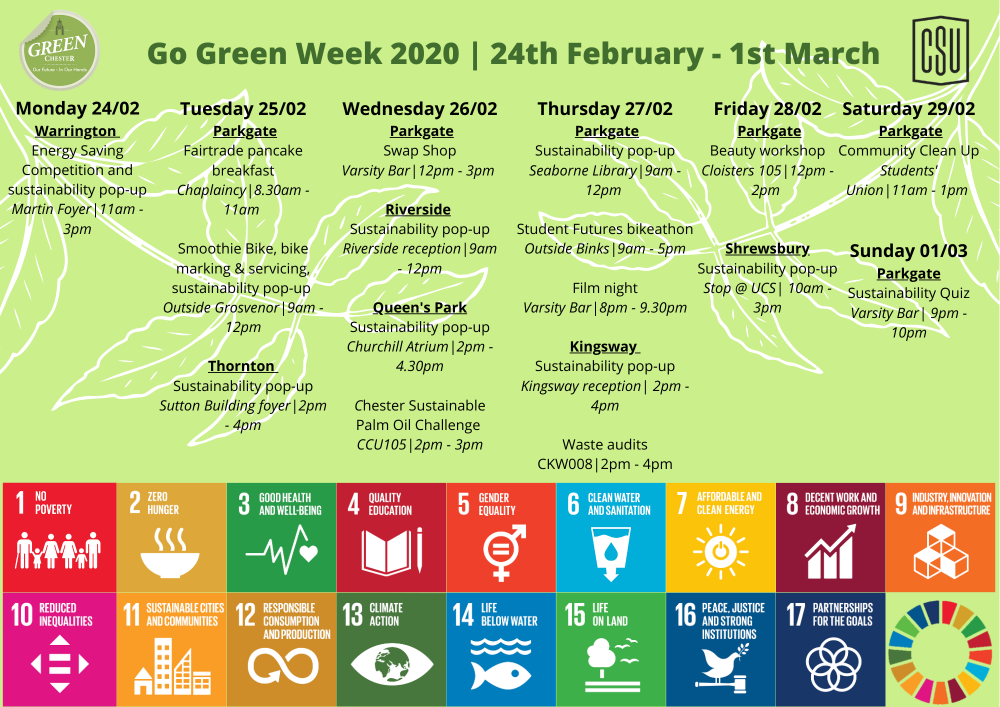 Go Green events poster 2020