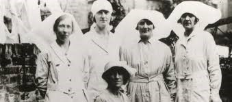 Marie Stopes with her Nurse-midwives.