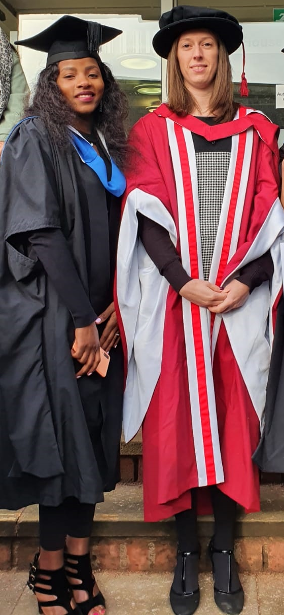 Bilha Simwenyi at Graduation