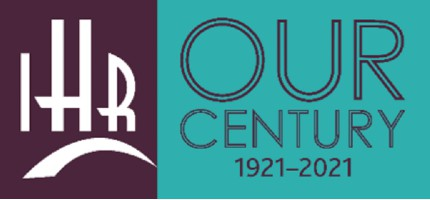 Institute of Historical Research - Our Century 1921-2021 logo image