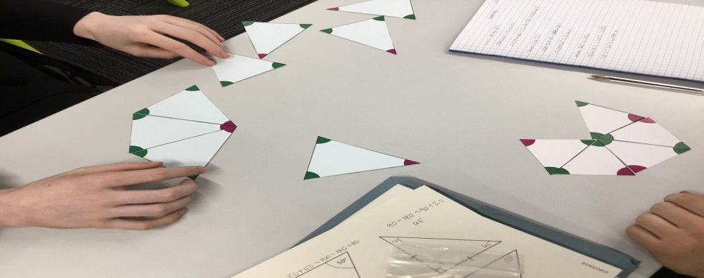 A picture of small triangles used to create an image